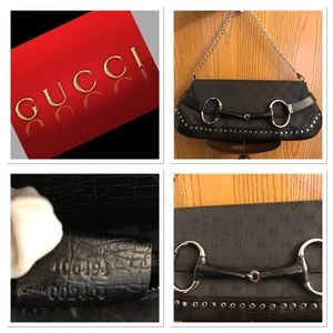 """🔥PROM READY AUTHENTIC """"GUCCI"""" STUDDED BAGUETTE ❤️"""